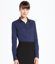 Work Shirts - Ladies Contrast Long Sleeves (4)