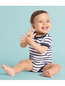 SOL'S Miles Striped Baby Bodysuit