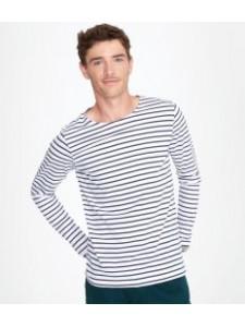 SOL'S Marine Long Sleeve Stripe T-Shirt