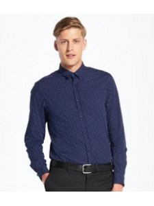 SOL'S Becker Polka Dot Long Sleeve Poplin Shirt