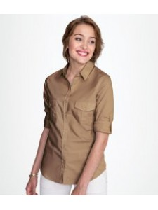 SOL'S Ladies Burma Roll Sleeve Poplin Shirt