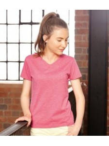 Russell Girls V Neck HD T-Shirt