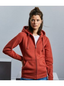 Russell Ladies Authentic Melange Zip Hoodie