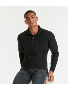 Russell Classic Long Sleeve Cotton Piqué Polo Shirt
