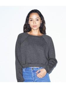 American Apparel Ladies Flex Fleece Cropped Pullover Sweatshirt