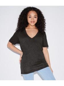 American Apparel Unisex Tri-Blend Deep V Neck T-Shirt