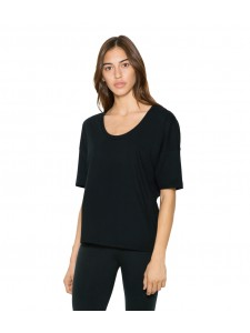 American Apparel Ladies Power Wash Deep U-Neck T-Shirt