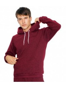 American Apparel Unisex Salt and Pepper Hooded Sweatshirt