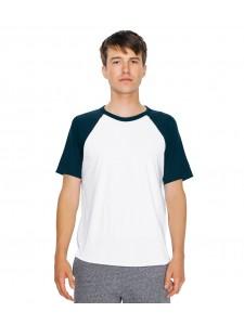 American Apparel Unisex Contrast Poly/Cotton Raglan T-Shirt