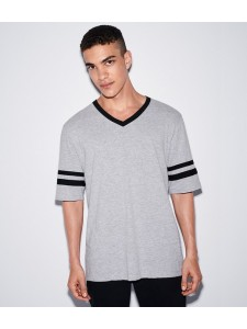 American Apparel Unisex Poly/Cotton V Neck Football T-Shirt