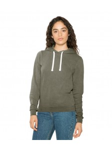 American Apparel Ladies French Terry Garment Dyed Mid-Length Hoodie