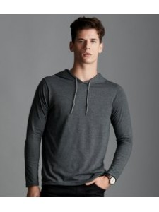 Anvil Lightweight Long Sleeve Hooded T-Shirt