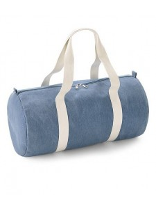 BagBase Denim Barrel Bag