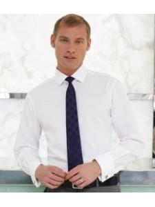 Brook Taverner Chelford Slim Fit Long Sleeve Poplin Shirt