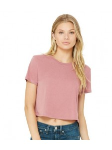 Bella Ladies Flowy Cropped T-Shirt
