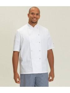 Dennys Short Sleeve Press Stud Chef's Jacket