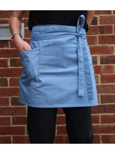 Dennys Cross Dyed Denim Waist Apron with Pocket