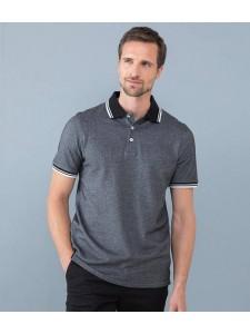 Henbury Two Tone Tipped Piqué Polo Shirt