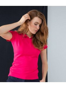 Henbury Ladies Coolplus® Wicking Piqué Polo Shirt