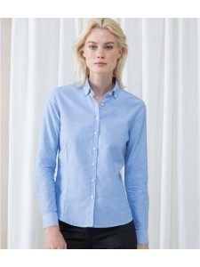 Henbury Ladies Modern Long Sleeve Regular Fit Oxford Shirt