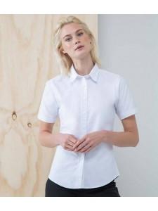 Henbury Ladies Short Sleeve Classic Oxford Shirt