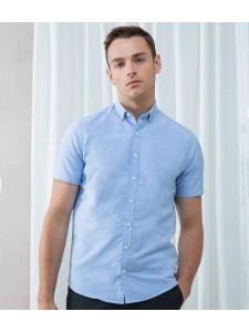 Henbury Modern Short Sleeve Slim Fit Oxford Shirt