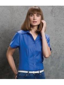 Kustom Kit Ladies Short Sleeve Workwear Oxford Shirt