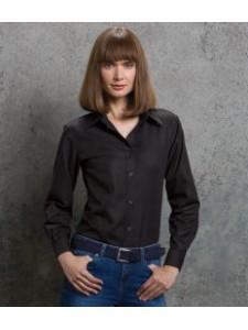 Kustom Kit Ladies Long Sleeve Workwear Oxford Shirt