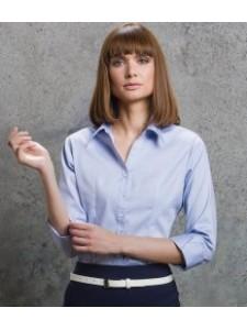 Kustom Kit Ladies 3/4 Sleeve Corporate Oxford Shirt
