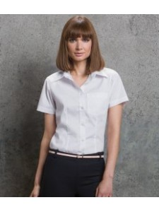 Kustom Kit Ladies Short Sleeve Corporate Oxford Shirt with Pocket