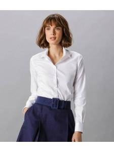 Kustom Kit Ladies Long Sleeve Tailored Stretch Oxford Shirt