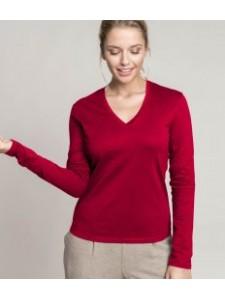 Kariban Ladies Long Sleeve V Neck T-Shirt