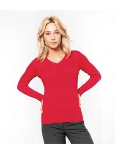 Kariban Ladies Cotton Acrylic V Neck Sweater