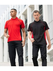 Finden & Hales Performance Panel Polo Shirt