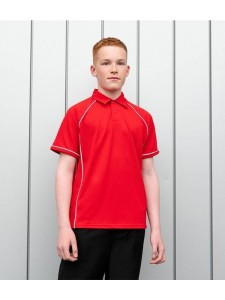 Finden and Hales Kids Performance Piped Polo Shirt