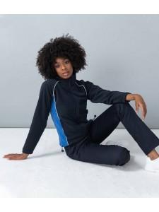Finden and Hales Ladies Contrast Micro Fleece Jacket