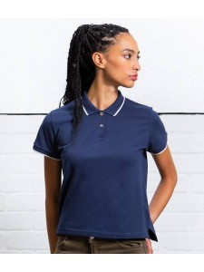 Mantis Ladies The Tipped Polo Shirt