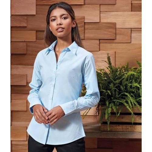 c45348e748b6f Premier Ladies Supreme Long Sleeve Poplin Shirt