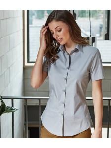 Premier Ladies Short Sleeve Stretch Fit Poplin Shirt