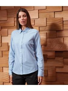 Premier Ladies Maxton Check Long Sleeve Shirt