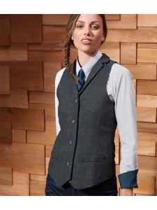 Premier Ladies Herringbone Waistcoat