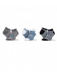 Spiro 3 Pack Mixed Stripe Sneaker Socks